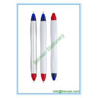 Buy cheap two color ball pen,double color pens, can be customized for printing from wholesalers