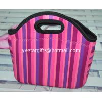 Wholesale Lightweight Soft Neoprene Shopping Bag Colored With Sublimation Stripe Pattern from china suppliers