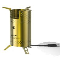 Buy cheap wood stove camping stove with USB blower fanned blower biomass stove pellet stove from wholesalers