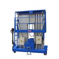 Buy cheap 10m 200KG Loading Capacity Aluminum Aerial Work Platform with Double Mast product