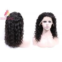 Buy cheap 360 Lace Frontal Wig Human Hair , Virgin Indian Hair Italian Curly For Women Swiss Lace from wholesalers
