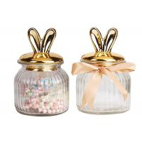 Buy cheap Nordic Ceramic Plated Empty Glass Jars Christmas Decoration Box Round Shape product