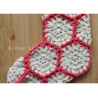 Buy cheap Hexagon Knitted Christmas Tree Ornaments White And Red Crochet Christmas Stockings from wholesalers