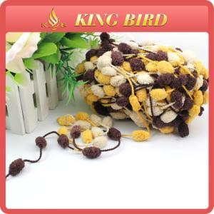 Wholesale Glove fancy yarn snow ball yarn pom pom yarn for hand knitting from china suppliers