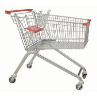 Buy cheap Powder Coating Supermarket Shopping Trolley Cart , 4 Wheel Metal Shopping Carts from wholesalers