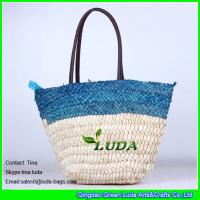 China LUDA cute designer handbags handmade cornhusk straw beach bags on sale