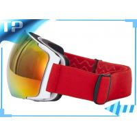 Buy cheap Silicone Strap REVO Red Polarized Snowboard Goggles For Skiing Sports from wholesalers
