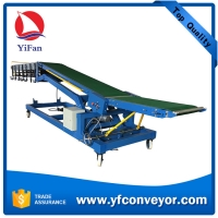 Wholesale Truck loading conveyors / movable inclined extendable  belt conveyor with roller conveyors from china suppliers