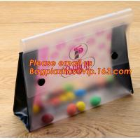 Buy cheap Office school filing supplies A4 plastic portable document file bag /envelope pocket file folder with button from wholesalers