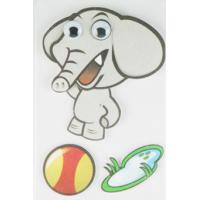 Quality Soft Kids 3D Cartoon Stickers Promotional Baby Elephant Wall Stickers  for sale