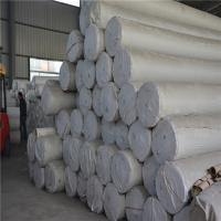 Buy cheap white polyester roadbed soil filtration needle punched nonwoven geotextiles sheet from wholesalers