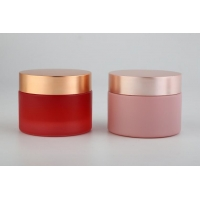 Buy cheap 20g 30g 50g Blue Glass Cosmetic Cream Jars , Glass Jar Cosmetic Packaging Cream Bottles OEM from wholesalers
