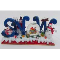 Buy cheap Polyresin Christmas Gift with Snowman and Snow Ball (SFR1604) from wholesalers