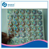 Buy cheap Die Cut Self Adhesive Rainbow Custom Hologram Stickers For Packaging from wholesalers