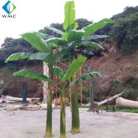 Wholesale 4.5m Height Artificial Tropical Plants , Decorative Faux Banana Leaf Tree from china suppliers