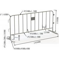 Buy cheap Welding / Punched Cross Feet / Bridge Feet Crowd Control Barriers 1100mm*2200mm from wholesalers