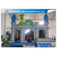 Buy cheap Outdoor Grey Inflatable Jumping Castles , Inflatable Dragon Combo Bouncy Castle from wholesalers