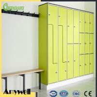 Buy cheap Amywell SGS passed durable 10mm hpl laminate sheet 8 door gym locker for school from wholesalers