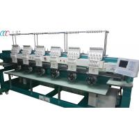 6 Heads 9 needles Commercial Cap / T-shirt Embroidery Machine With 1000 Rpm High Speed Manufactures