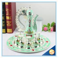Buy cheap Shinny Gifts GuangDong Factory Russian Style Wine Set Enamel Handmade Home Decorative Metal Trim Craft TXX from wholesalers