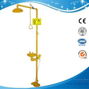SH712BF-Galvanization Iron Safety shower & eyewash station,Foot pedal Carbon Steel eyewash