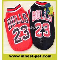 Wholesale perro products bulls team basketball cotton dog tshirts clothes from china suppliers