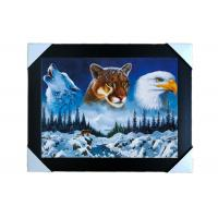 Buy cheap PS Frame Stock  3D PET Lenticular Printing Services Wall Decorative Picture from wholesalers