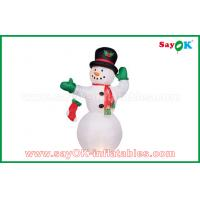 Buy cheap Durable White Inflatable Snowman For Party / Holiday Decorations from wholesalers