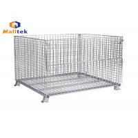 Buy cheap Folded Stacking Wire Mesh Storage Cages Collapsible Fireproof Steel Material from wholesalers