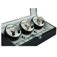 Buy cheap High quality brown wooden display boxes cheap automatic watch winder with leather lining from wholesalers