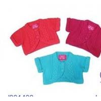 Buy cheap Summer Green / Red Short Sleeve Cardigan Cotton Knitting Patterns Kids Sweaters from wholesalers
