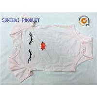 Buy cheap Envelope Neck Graphic Print Baby Girl Short Sleeve Onesies 100% Combed Cotton Knitted Jersey from wholesalers