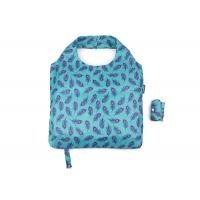 Buy cheap 190 T Eco Friendly Foldable Reusable Shopping Bags Blue Nice Leaf With Logo Tag And Botton from wholesalers