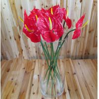 Buy cheap artificial faux high simulation home decor lifelike good quality anthurium flower from wholesalers
