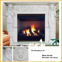 Buy cheap Stone Marble Electric Fireplace Carved Granite Mantel for Indoor Decoration from wholesalers