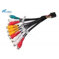 Buy cheap Vehicle Audio Cable Cord RCA CD Car Wire Harness 7/0.127 Bare Copper RCA Male Plug from wholesalers