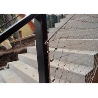 Buy cheap Decorative Ferrule Flexible Stainless Steel Wire Rope Mesh Fence For Stair Railing from wholesalers