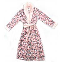 Buy cheap 260G Soft Fleece 100% Polyester Ladies Pyjama Sets Night Robe All Over Print from wholesalers