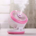 Buy cheap Newest Design Foldable Electric Battery Operated Desktop Usb Mini Fan Portable Power Bank Water Spray Fan from wholesalers