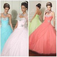 Wholesale 2012 New Beautiful Sexy Sweetheart A-Line Sheath Jacket Paillette Ruffle Tulle Satin Quinceanera Dresses (QD-010) from china suppliers
