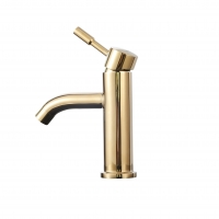 Buy cheap Gold Basin Tap Single Handel Wash Basin Water Tap for Bathroom stainless steel faucet from wholesalers