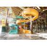 Indoor Fiber Glass Kid Water Slides , Spiral Open Water Slide Manufactures