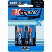 Buy cheap LR14 Alkaline Battery, Mercury-/Cadmium-/Lead-free, with Up to 5yrs Shelf-time from wholesalers