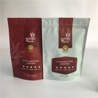 Buy cheap Matte Stand Up Tea Bags Packaging Plastic Zipper Coffee Bag With One Way Degassing Valve from wholesalers