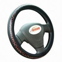 Steering Wheel Cover, Car Interior Accessory, Made of PU or Leather  Manufactures