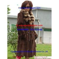 Buy cheap Manufactory new style cutted rabbit fur clothing +fox fur collar s-051 from wholesalers