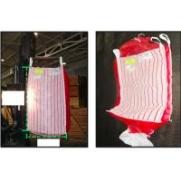 Buy cheap Potato ventilated bulk bags 1.5tonne , red breathable PP fabric FIBC Bags product