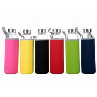 Wholesale 16 Oz Fancy Unbreakable Glass Water Bottle With Stainless Steel Cap from china suppliers