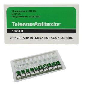 Tetanus Antitoxin injection 10 Amps *1500 I.U. GMP Medicine BP/CP/USP Standrad