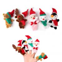 Buy cheap Colorful Plush Finger Puppets , Christmas Finger Puppets Santa Claus Reindeer Puppets Play from wholesalers